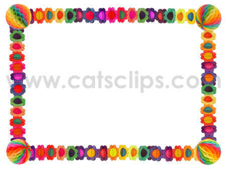 bithday paper garland border