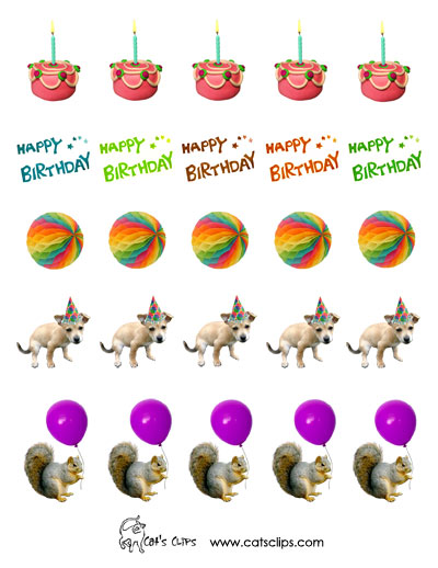 Free Printable Stickers from Cat's Clips. http://www.catsclips.com/freeprintablestickers.html