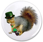 irish drinking squirrel button