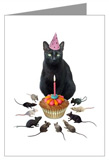 black cat birthday card at cafepress