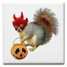 trick or treat squirrel coaster at cafepress