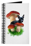 red mushroom dog journal at CafePress
