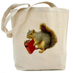 squirrel with book bag from cafepress