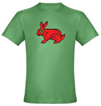 red rabbit green tshirt