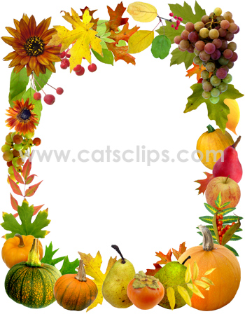 fall borders collection at cats clips