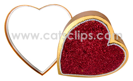 heart shaped candy box border