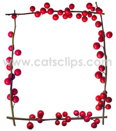 holly berries border
