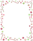 peppermint candy border