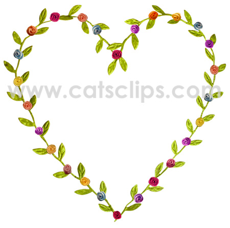 ribbon rose heart border