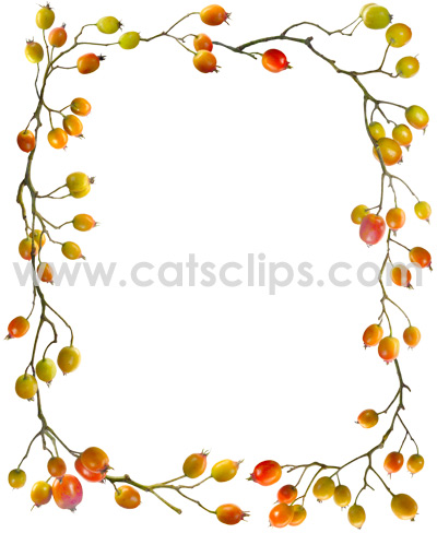 Rose Hips border from www.catsclips.com.