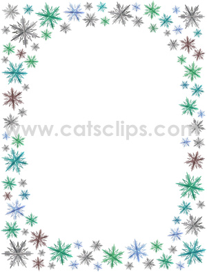 Snowflake Border Snowflake Borders For Microsoft Word