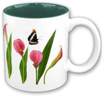 calla lily butterfly mug at zazzle