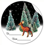 deer in woods sticker from zazzle
