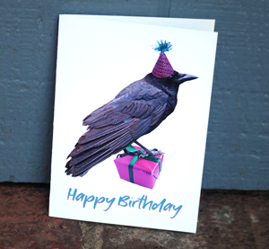 Crow Birthday Printable Card from Etsy