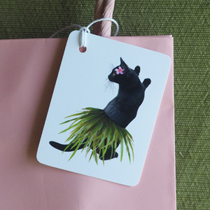 Hula Cat Gift Tags from Etsy