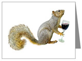 squirrel with Wine Card