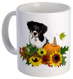 fall flowers puppy mug