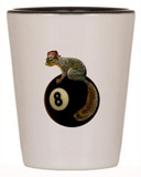 squirrel on 8 ball shotglass
