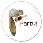 squirrel champagne party